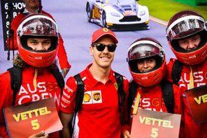 Sebastian Vettel, Ferrari, with fans