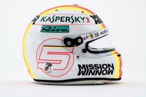 Helmet of Sebatian Vettel, Ferrari