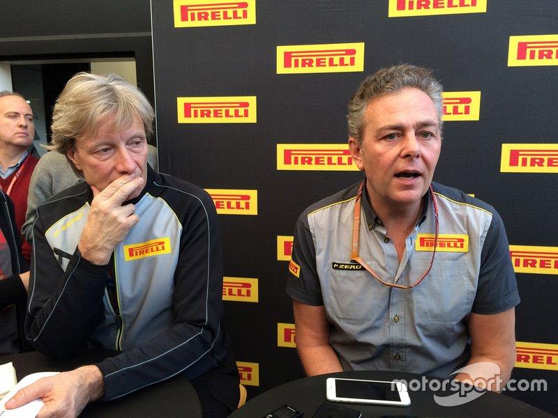 Mario Isola, direttore sportivo Pirelli, Roberto Boccafogli, direttore della comunicazione F1 Pirelli