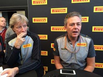 Mario Isola, Pirelli Sporting Director, Roberto Boccafogli, Pirelli f1 chief of communication