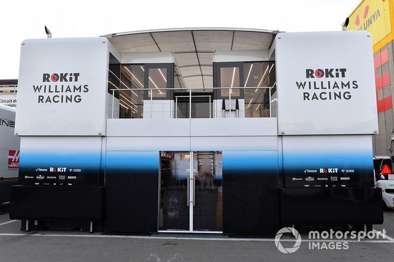 Camion e stanze degli ingegneri Williams Racing