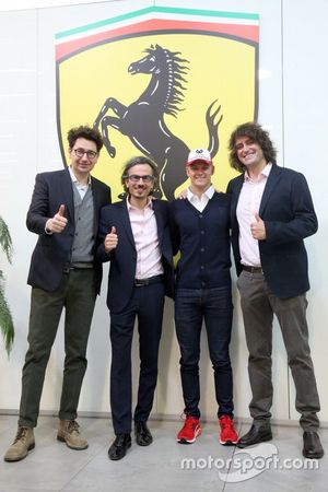 Mattia Binotto, Laurent Mekies, Marco Matassa y Mick Schumacher, Academia de pilotos de Ferrari