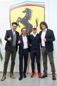Mattia Binotto, Laurent Mekies, Marco Matassa and Mick Schumacher, Ferrari Driver Academy