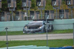 #07 MP1A Lamborghini Gallardo R-EX driven by Fabio Escprioni of Team Rey Racing crashes into the wall at Homestead-Miami Speedway