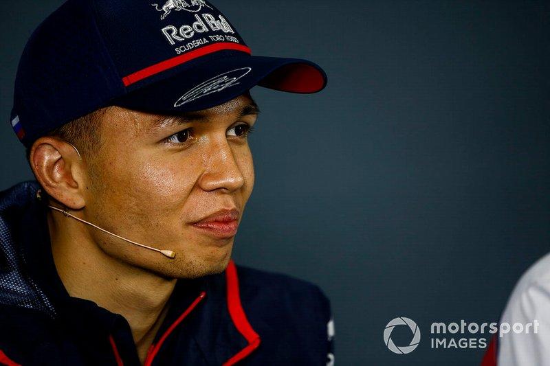 Alexander Albon, Toro Rosso, nella conferenza stampa