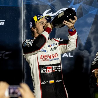 Podium: #8 Toyota Gazoo Racing Toyota TS050: Fernando Alonso