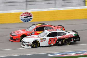 Justin Allgaier, JR Motorsports, Chevrolet Camaro BRANDT Professional Agriculture, Cole Custer, Stewart-Haas Racing, Ford Mustang Haas Automation