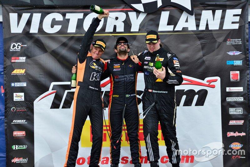 TA2 podium finishers Shane Lewis, Rafael Matos, and Harry Steenbakkers