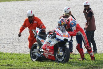 Jack Miller, Pramac Racing after his crash