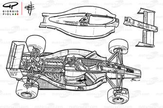 Развернутая схема Ferrari F189 (640) 1989 года