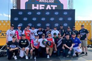 Group shot of all the drivers participating in the inaugural eNASCAR Heat Pro League season