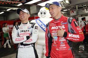 #3 B-Max Racing team Nissan GT-R: Kohei Hirate, #23 Nismo Nissan GT-R: Tsugio Matsuda