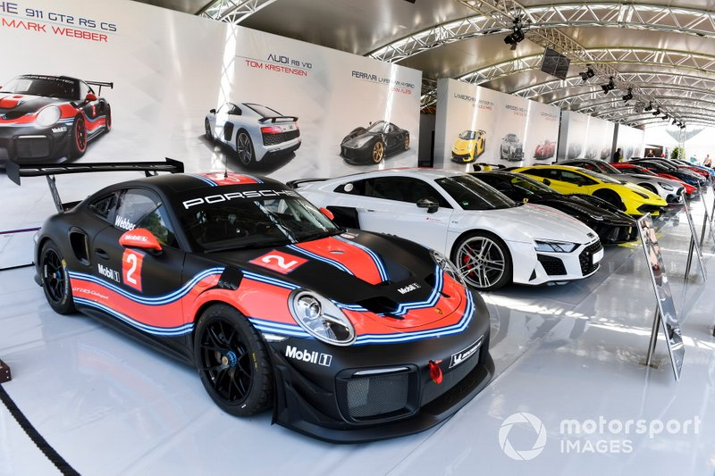 Car of Mark Webber, 911 GT2 RS CS on display