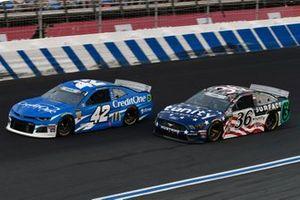 Kyle Larson, Chip Ganassi Racing, Chevrolet Camaro Credit One Bank,Matt Tifft, Front Row Motorsports, Ford Mustang Surface Sunscreen / Tunity