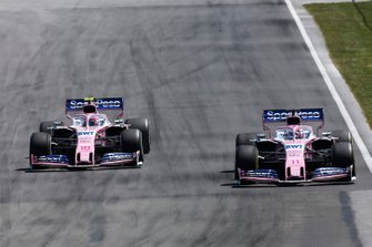 Sergio Perez, Racing Point RP19, lotta con Lance Stroll, Racing Point RP19
