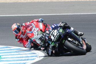 Maverick Vinales, Yamaha Factory Racing, Andrea Dovizioso, Ducati Team
