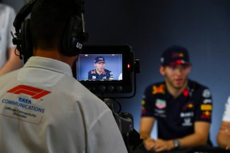 Camera operator filming Pierre Gasly, Red Bull Racing during the Press Conference