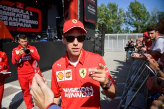 Sebastian Vettel, Ferrari in the Fan Zone
