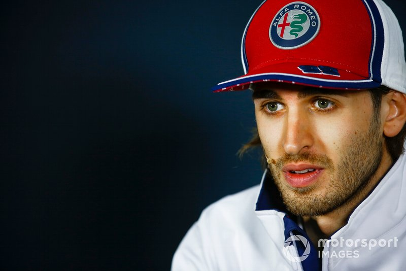Antonio Giovinazzi, Alfa Romeo Racing in Press Conference