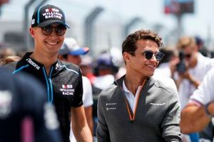 George Russell, Williams Racing, and Lando Norris, McLaren