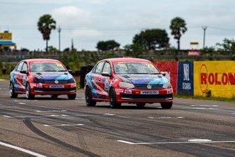 Karthik Tharani, Volkswagen Motorsport India leads Dhruv Mohite, Volkswagen Motorsport India