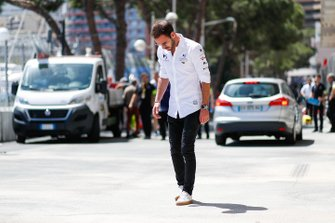 Jean-Eric Vergne, DS TECHEETAH, on a track walk