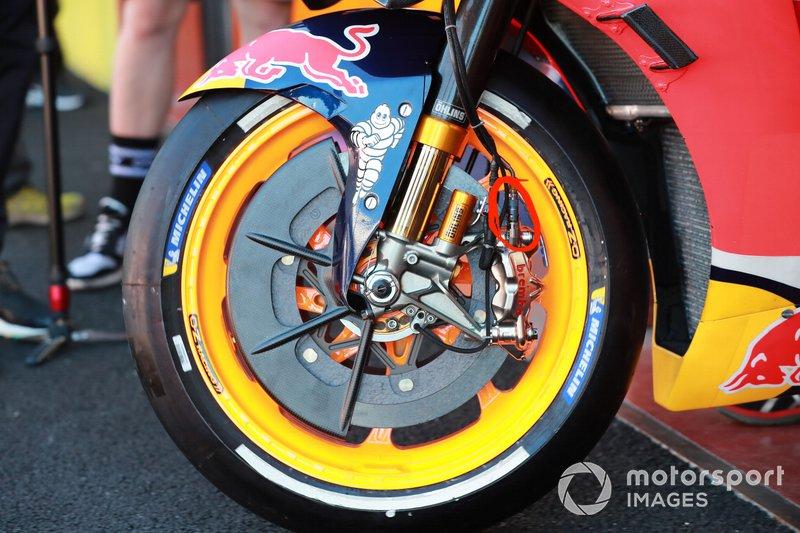 Brake from the bike of Jorge Lorenzo, Repsol Honda Team