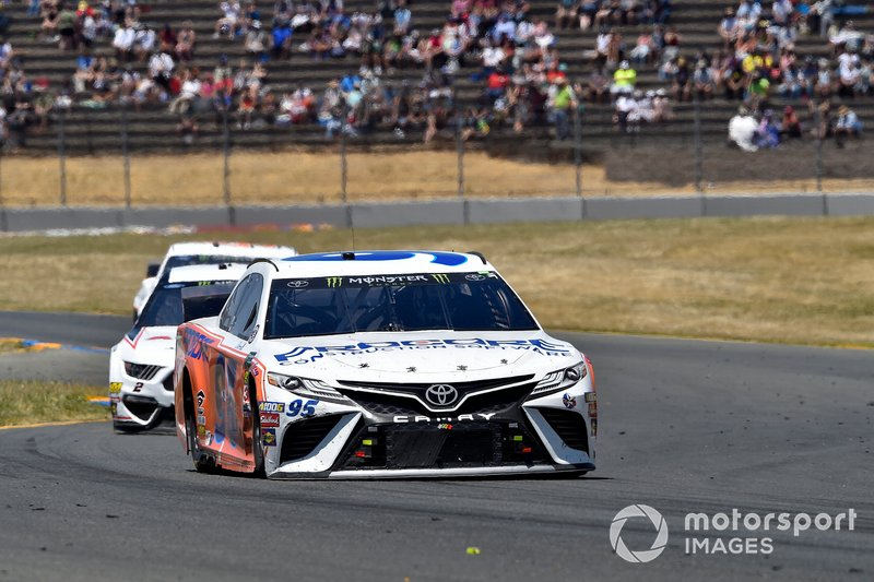 Matt DiBenedetto, Leavine Family Racing, Toyota Camry Procore Thanks DW Throwback