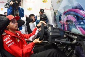 Шарль Леклер, Ferrari, в Shell House