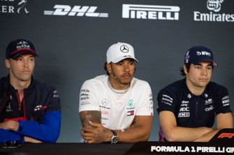 Daniil Kvyat, Toro Rosso, Lewis Hamilton, Mercedes AMG F1 and Lance Stroll, Racing Point