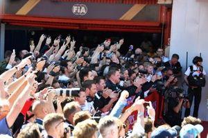 La foule au pied du podium