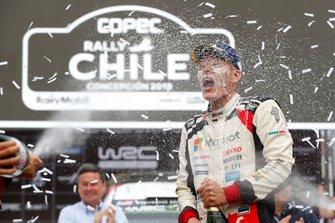 Podium: Winner Ott Tänak, Martin Järveoja, Toyota Gazoo Racing WRT Toyota Yaris WRC
