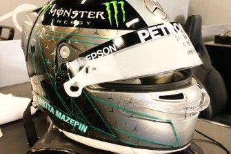 Helmet of Nikita Mazepin, Mercedes AMG W10