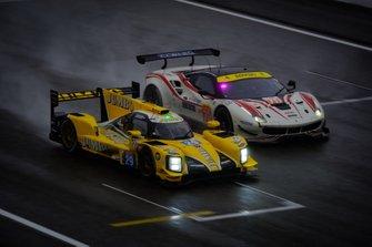 #29 Racing Team Nederland Dallara P217: Frits van Eerd, Giedo van der Garde, Nyck de Vries, #70 MR Racing Ferrari 488 GTE: Motoaki Ishikawa, Olivier Beretta, Edward Cheever