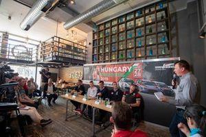 Conferenza stampa, Norbert Michelisz, BRC Hyundai N Squadra Corse Hyundai i30 N TCR, Rob Huff, SLR VW Motorsport Volkswagen Golf GTI TCR