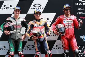 Pole sitter Marc Marquez, Repsol Honda Team, second place Fabio Quartararo, Petronas Yamaha SRT, third place Danilo Petrucci, Ducati Team