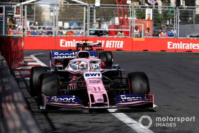 Sergio Pérez, Racing Point RP19, Max Verstappen, Red Bull Racing RB15