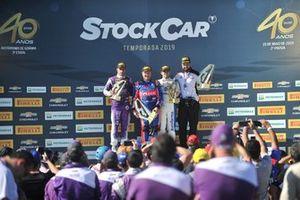 Pódio da corrida 2 da etapa de Goiânia da Stock Car