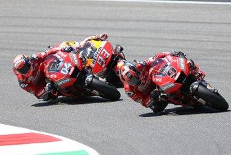 Danilo Petrucci, Ducati Team, Andrea Dovizioso, Ducati Team & Marc Marquez, Repsol Honda Team MotoGP