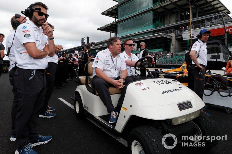 Fernando Alonso, McLaren Racing Chevrolet; Zak Brown