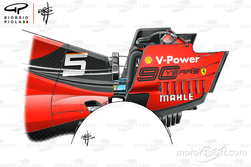 Ferrari SP90, rear wing end plate