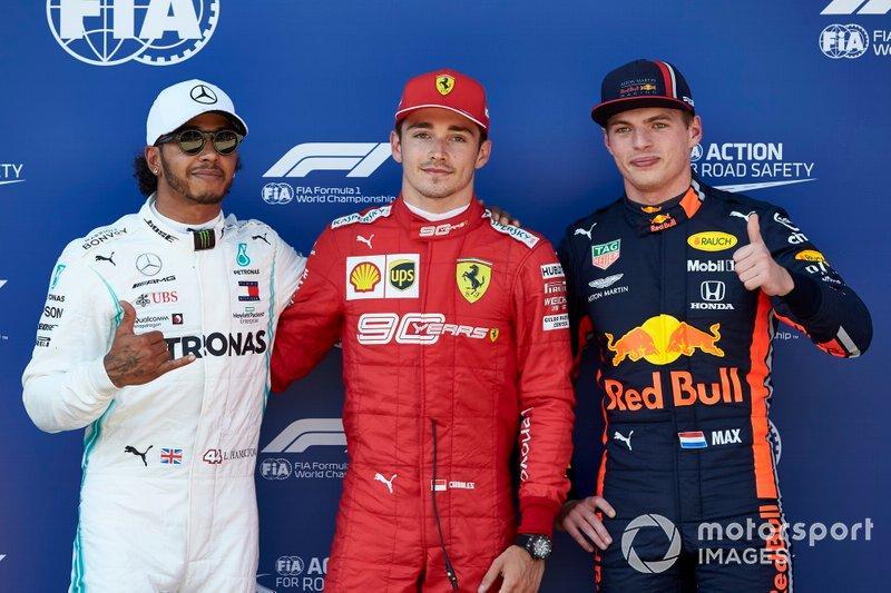 Lewis Hamilton, Mercedes AMG F1, Charles Leclerc, Ferrari, Max Verstappen, Red Bull Racing