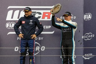 1. Gabriele Tarquini, BRC Hyundai N Squadra Corse Hyundai i30 N TCR, 3. Yann Ehrlacher, Cyan Performance Lynk & Co 03 TCR