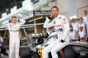 Jenson Button, McLaren, and Kevin Magnussen, McLaren