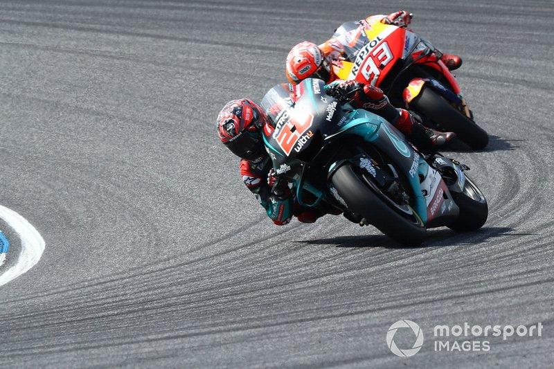 Fabio Quartararo, Petronas Yamaha SRT precede Marc Marquez, Repsol Honda Team