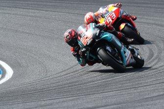 Fabio Quartararo, Petronas Yamaha SRT leads Marc Marquez, Repsol Honda Team