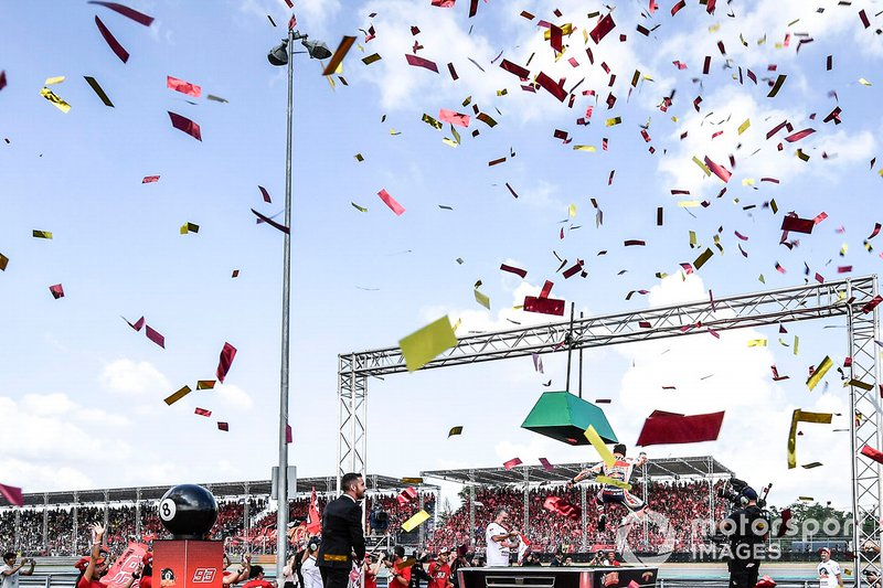 Il Campione del Mondo Marc Marquez, Repsol Honda Team, festeggia