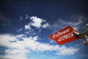#26 G-Drive Racing Aurus 01 Gibson: Roman Rusinov, Job Van Uitert, Jean-Eric Vergne, cartello