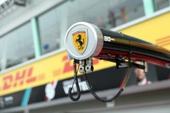 Dettaglio del pit equipment della Ferrari