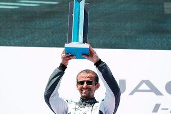 Race winner Bandar Alesayi, Saudi Racing on the podium